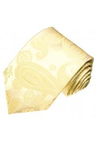 XL Herrenkrawatte 100% Seide Paisley creme beige LORENZO CANA