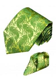 Krawattenset 100% Paisley froschgrün grün LORENZO CANA