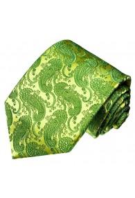 Krawatte 100% Paisley froschgrün grün LORENZO CANA