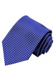 Krawatte 100% Seide Karo blau weiss LORENZO CANA