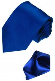 Krawattenset 100% Seide dunkelblau königsblau LORENZO CANA