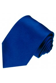 Krawatte 100% Seide dunkelblau königsblau LORENZO CANA