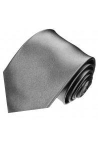 Krawatte 100% Seide Unifarben silber grau LORENZO CANA