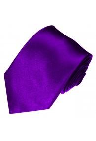 XL Herrenkrawatte 100% Seide Unifarben violett LORENZO CANA