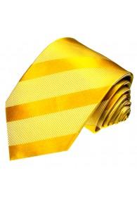 Krawatte 100% Seide Streifen gold orange LORENZO CANA