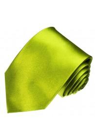 Krawatte 100% Seide Unifarben grasgrün grün LORENZO CANA