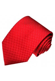 Krawatte 100% Seide Punkte rot weiss LORENZO CANA