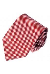 Krawatte 100% Seide Karo rot weiss LORENZO CANA