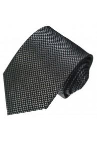 Krawatte 100% Seide Hahnentritt silber schwarz LORENZO CANA