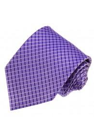 Krawatte 100% Seide Karo lila violett LORENZO CANA