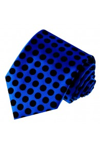 Krawatte 100% Seide Karo dunkelblau schwarz LORENZO CANA
