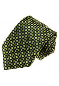 Krawatte 100% Seide Punkte hellgrün dunkelblau LORENZO CANA