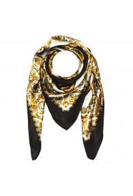 Tuch für Herren gold weiss schwarz Seide Floral LORENZO CANA