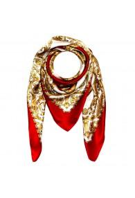 Tuch für Herren gold weiss rot Seide Floral LORENZO CANA