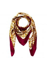 Tuch für Herren gold weiss bordeaux Seide Floral LORENZO CANA