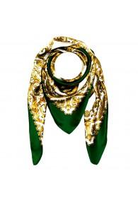 Tuch für Herren gold weiss grün Seide Floral LORENZO CANA