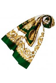 Tuch für Damen gold weiss grün Seide Floral LORENZO CANA