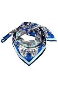 Tuch für Herren blau silber aqua Seide Floral LORENZO CANA