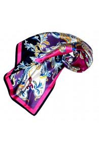 Tuch für Damen violett pink weiss Seide Floral LORENZO CANA
