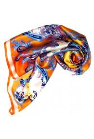 Tuch für Damen orange gelb blau Seide Floral LORENZO CANA