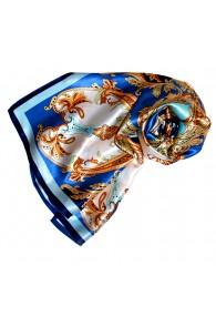Tuch für Damen blau gold orange Seide Floral LORENZO CANA