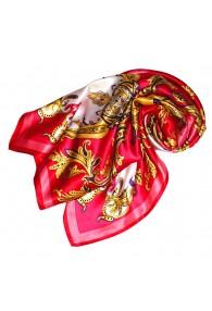 Tuch für Damen rot rosa gelb weiss Seide Floral LORENZO CANA
