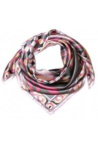 Tuch für Herren rosa grau apricot Seide Floral LORENZO CANA