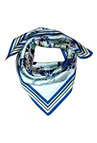 Tuch Damen 100% Seide aqua blau grün Floral LORENZO CANA