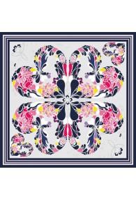 XXL Seidentuch mehrfarbig Floral LORENZO CANA