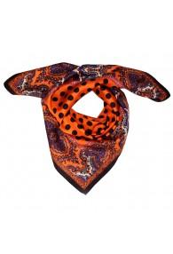 Tuch Damen 100% Seide orange schwarz violett Punkte LORENZO CANA