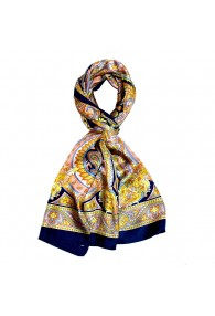 Schal für Männer rosa gelb blau Paisley LORENZO CANA