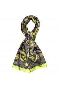 Schal für Männer grün violett gelb Paisley LORENZO CANA