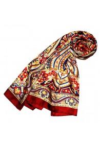 Schal für Frauen rot blau gelb weiss Paisley LORENZO CANA