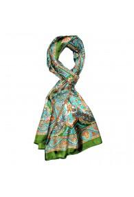 Schal für Männer türkis orange grün Paisley LORENZO CANA