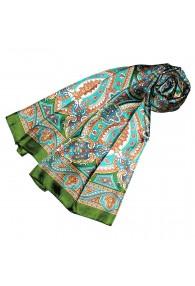 Schal für Frauen türkis orange grün Paisley LORENZO CANA
