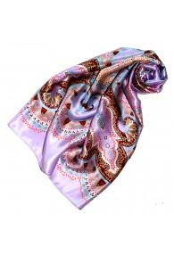 Tuch für Damen lila violett hellblau braun Seide Floral LORENZO CANA