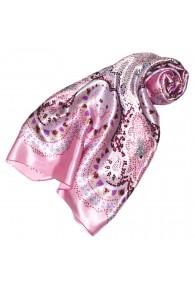 Tuch für Damen rosa hellgrau purpur Seide Floral LORENZO CANA