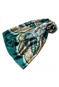 Tuch für Damen grün türkis braun beige Seide Floral LORENZO CANA