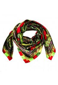 Tuch für Herren grün rot purpur Seide Floral LORENZO CANA