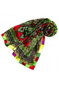 Tuch für Damen grün rot purpur Seide Floral LORENZO CANA