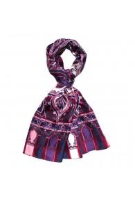 Seidenschal Herren violett rosa weiss Paisley LORENZO CANA