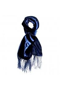 Schal Herren Seide Damast Floral blau dunkelblau LORENZO CANA