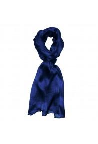 Herrenschal 100% Seide blau marineblau Streifen LORENZO CANA