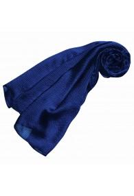 Damenschal Seide blau marineblau Streifen LORENZO CANA