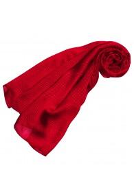 Damenschal Seide rot beere hellrot Streifen LORENZO CANA