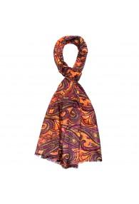Herrenschaltuch Paisley violett orange LORENZO CANA