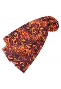Schaltuch Damen Paisley violett orange LORENZO CANA