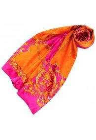 Tuch für Damen orange rosa Seide Floral LORENZO CANA