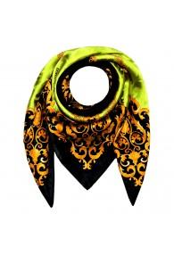 Tuch für Herren grün schwarz gold Seide Floral LORENZO CANA