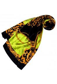 Tuch für Damen grün schwarz gold Seide Floral LORENZO CANA
